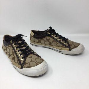 Coach Signature C Felix Gold Metallic Trim Sneaker